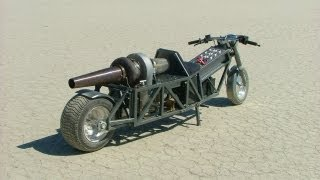 GRV-2 DIY Turbine Jet Bike - Trial Runs - 52.1 MPH