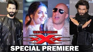 xXx Return Of Xander Cage India Premiere | Deepika, Vin Diesel, Ranveer Singh, Kriti Sanon