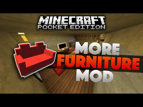MORE FURNITURE IN MCPE!!! - More Furniture Mod [0.13.1] - Minecraft PE (Pocket Edition)