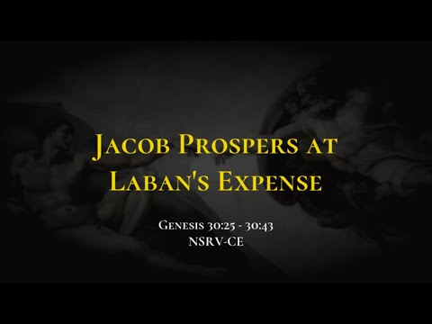 Jacob Prospers at Laban's Expense - Holy Bible, Genesis 30:25-30:43
