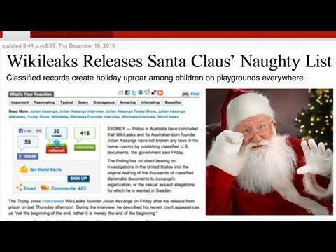 WikiLeaks Reveals Santa's Naughty List