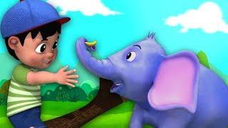 Hathi Dada | हाथी दादा | Hindi Rhymes For Babies | Hindi Balgeet | Kids Channel India
