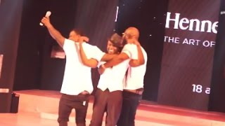 Reggie Rockstone pulled off stage by VVIP members @ Hennessy Artistry gig