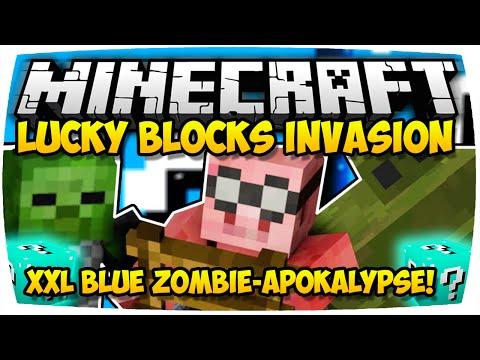 MINECRAFT: BLUE LUCKY BLOCKS INVASION - TOWER DEFENSE IN MINECRAFT   XXXL FOLGE!   [Deutsch // HD]