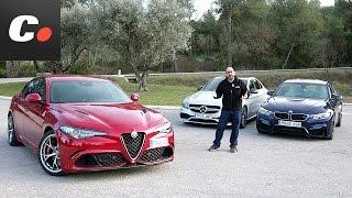 Alfa Romeo Giulia Quadrifoglio, BMW M3, Mercedes-AMG C 63 | Comparativa | Prueba / Review Coches.net