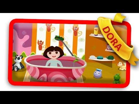 dora baby bath online dora games youtube. Black Bedroom Furniture Sets. Home Design Ideas