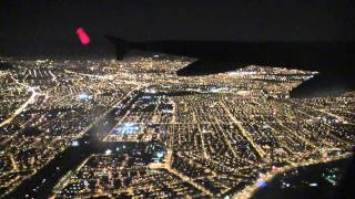 Night Take Off SCEL to SCIE HD Airbus A 318
