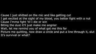 Eminem Survival Lyrics