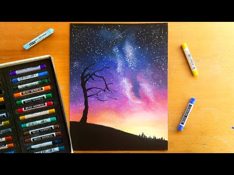 Drawing a night sky with soft pastels | Leontine van vliet