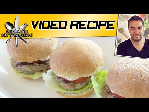 HEALTHY 'LOW FAT' BURGERS - Nicko's Kitchen