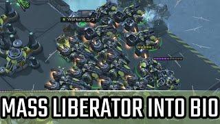 Mass Liberator into Bio l StarCraft 2: Legacy of the Void Ladder l Crank