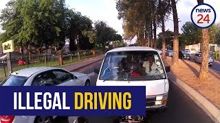 WATCH: Taxi driver arrested after going viral for driving on the wrong side of the road  from News24