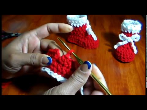Botines para Bebe Tejidos en Crochet