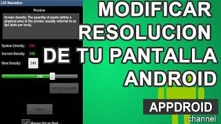 Modificar resolucion en tu smartphone Android