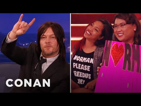 Norman Reedus Loves To Lick People  — CONAN on TBS