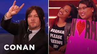 Norman Reedus Loves To Lick People  - CONAN on TBS