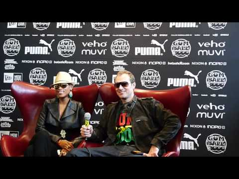 Maximillion and Eve interviewed at the Gumball 3000 2011 registration