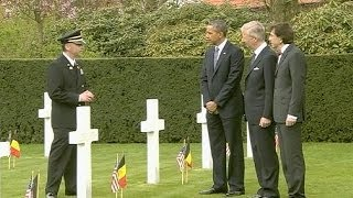 (Obama) Honors American WWI Dead in Belgium  3/26/14