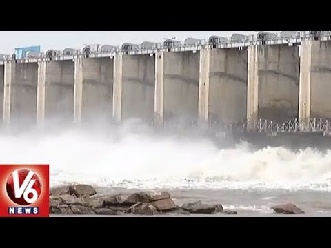 Tourists Across Telangana Throng Jurala Project | Water Level Increased With Heavy Inflow | V6 News