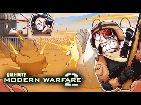 Terroriser vs Nogla, 1v1 on Rust! (COD: Modern Warfare 2 Funny Moments)