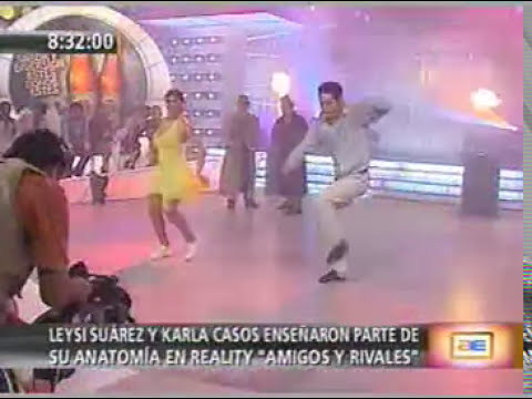 Leysi Suárez dejó ver uno de sus pechos en 'Habacilar'