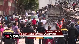 Mexicans dig through collapsed buildings as powerful magnitude 7.1 earthquake kills 217