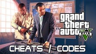 GTA V - LIVE CHEATS CODES XBOX/PS3 [MODE IVRE - HELICO - AVION - POLICE ...]