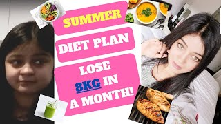 Summer Diet Plan To Lose 8kg in a month! With English Subtitles.