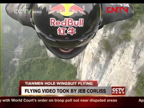 Jeb Corliss on a wingsuit flying the most epic road ever