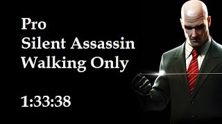 Hitman Blood Money - Walking Only - PRO/SA speedrun in 1:33:38