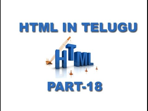 HTML Video Tutorial in Telugu Link colour Part 18[www.techdad.in]
