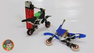 How to make Dirt Bike Toys from unused Cheap Lighters - Motocross Toys - Buba Kids Toys