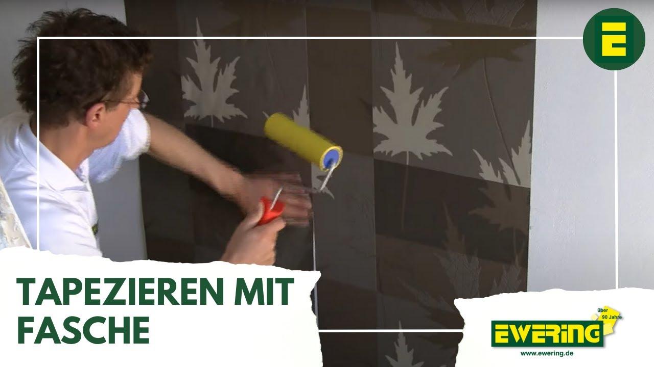 tapeten ratgeber tapezieren mit fasche youtube. Black Bedroom Furniture Sets. Home Design Ideas
