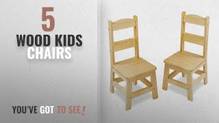 Top 10 Wood Kids Chairs [2018]: Melissa & Doug Solid Wood Chairs, Set of 2 - Light Finish Furniture