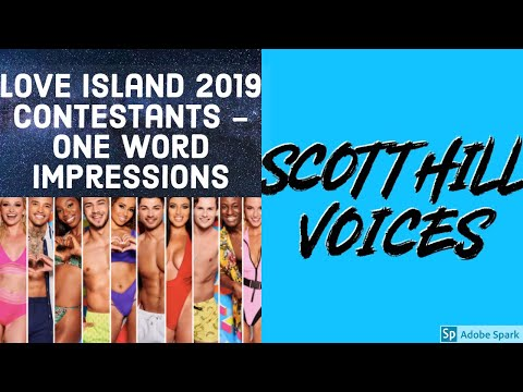 Love Island 2019 One Word Voice Impressions || Scott Hill Voices