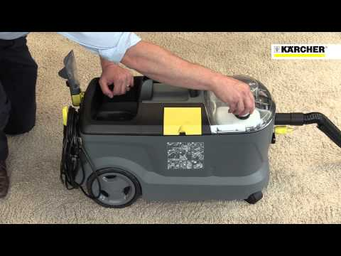 karcher puzzi 10 1 commercial spray extraction carpet upholstery cleaner. Black Bedroom Furniture Sets. Home Design Ideas