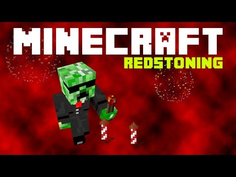 Minecraft Redstoning - How to Summon Fireworks Using Command Blocks (/summon Fir