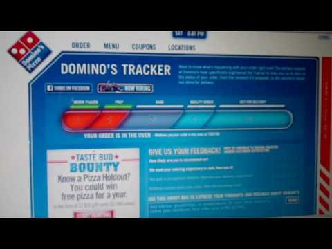 Dominos Pizza Order Tracking Online