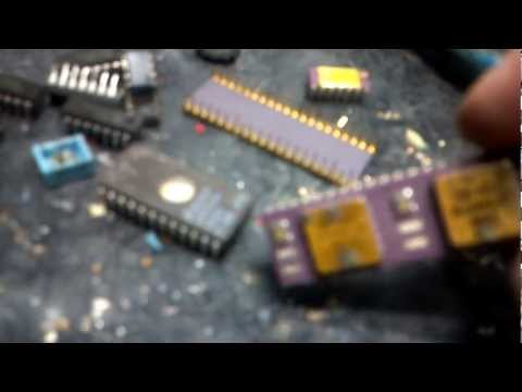 GOLD and SILVER – reclaim parts from Vintage Electronics
