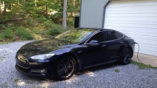 Looking at a Tesla Model S P85