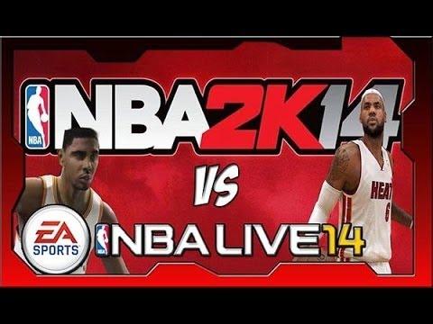nba live 14 vs nba 2k14 next gen gameplay review ps4