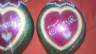 Marriage decorated coconuts