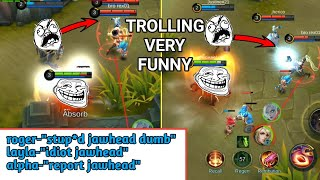BEST TROLLING AND CARRYING | VERY FUNNY GAME | MOBILE LEGENDS