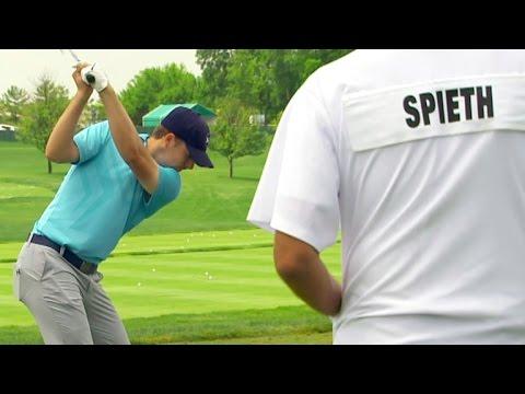 Jordan Spieth's pre-round warm-up routine