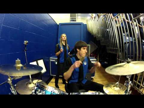 Jamming Drums with the Georgia State Basketball Band 2013 - Live Drumming - Live Band