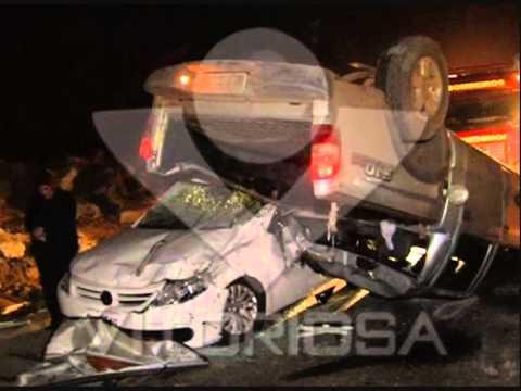 Caminhonete capota na BR-050 e bate em veículo oficial do Exército Brasileiro