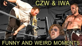 CZW & IWA funny and weird Moments Part 26