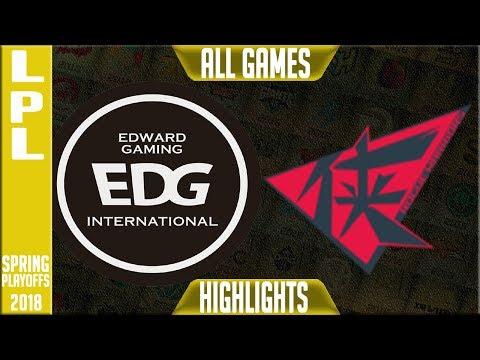EDG vs RW Highlights ALL GAMES | LPL Playoffs Semi final Spring 2018 Edward Gaming vs Rogue Warriors