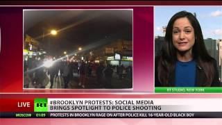 Brooklyn protests news thrives on social media; ignored by mainstream  3/15/13  (nypd)