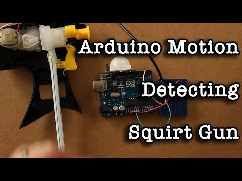 Arduion Motion Detecting Squirt Gun video